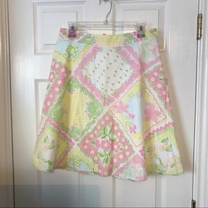 Lilly Pulitzer Floral and Cherry Skirt